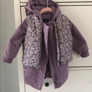 GAP Toddler Coat with Detachable Vest
